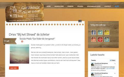 """Screenshot of Blog bijhetstrand.com - Dries """"Bij het Strand"""" de Winter - captured Sept. 30, 2014"""