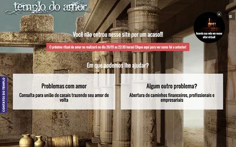 Screenshot of Home Page templodoamoreterno.com.br - Templo do amor eterno - Você não entrou nesse site por um acaso!!! - captured Jan. 23, 2015