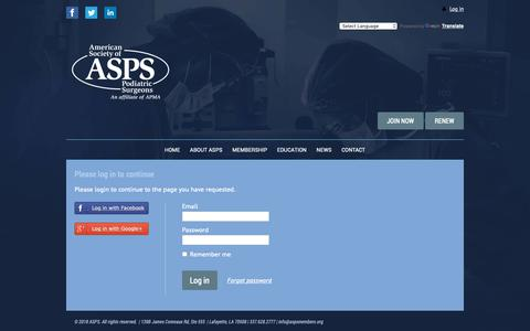 Screenshot of Case Studies Page aspsmembers.org - (ASPS) American Society of Podiatric Surgeons - Authorization required - captured Oct. 3, 2018