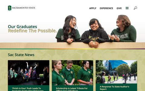 Screenshot of Home Page csus.edu - Sacramento State - captured July 7, 2019