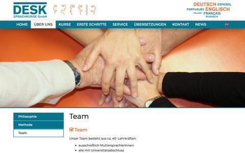 Screenshot of Team Page desk-sprachkurse.de - Team - DESK Sprachkurse - captured Oct. 8, 2018