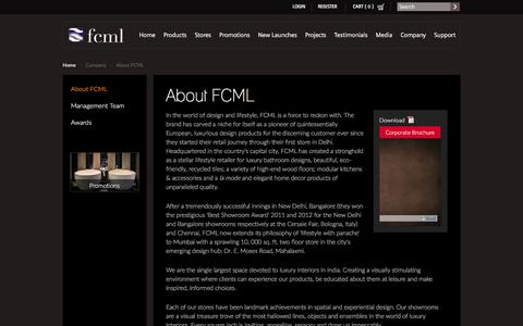 Screenshot of About Page fcmlindia.com - About Us – FCML India - India's Largest Online Home Store - captured Feb. 9, 2016