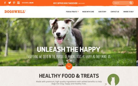 Screenshot of Home Page dogswell.com - Healthy Dog Food & Treats   Dogswell - captured Sept. 24, 2014