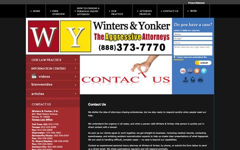Screenshot of Contact Page wintersandyonker.com - Contact Winters & Yonker, P.A. - captured Oct. 26, 2014