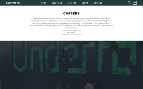 Screenshot of Jobs Page undertone.com - Careers | Advertising Careers | Undertone - captured Oct. 30, 2015