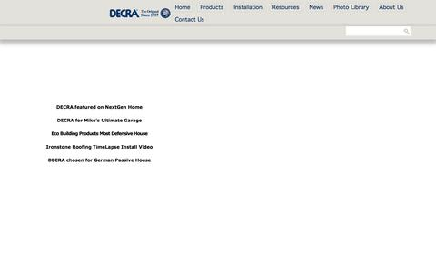 Screenshot of Press Page decra.com - News - captured Feb. 8, 2016