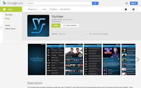 Screenshot of Android App Page google.com - YouView - Android Apps on Google Play - captured Oct. 22, 2014