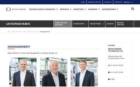 Screenshot of Team Page meyerburger.com - Management - captured July 19, 2019