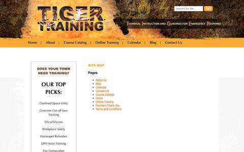 Screenshot of Site Map Page tigertrainingcorp.com - Site Map | Tiger Training Corp - captured Oct. 20, 2018