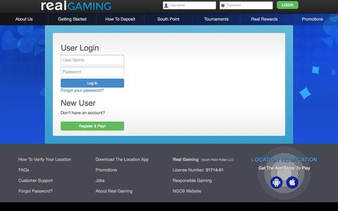Screenshot of Support Page realgaming.com - Real Gaming - captured Oct. 26, 2014
