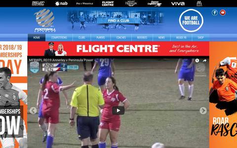 Screenshot of Home Page footballbrisbane.com.au - Football Brisbane - captured Aug. 16, 2018