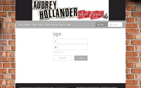Screenshot of Login Page theaudreyhollander.com - Audrey Hollander | Login - captured Jan. 31, 2018