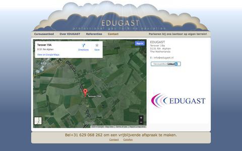 Screenshot of Contact Page edugast.nl - EDUGAST - captured Sept. 26, 2014