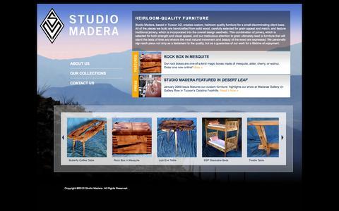 Screenshot of Home Page studiomadera.com - Studio Madera - captured Oct. 9, 2014