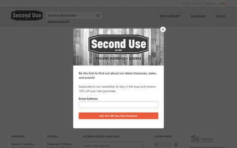 Screenshot of Login Page seconduse.com - Login | Second Use - captured Aug. 9, 2019