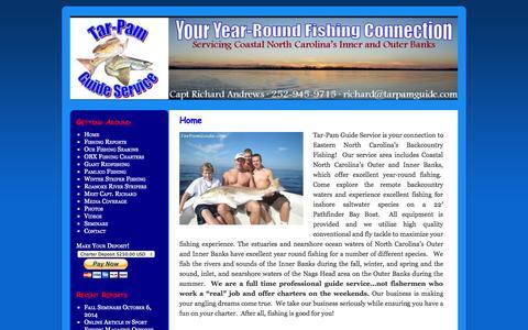 Screenshot of Home Page tarpamguide.com - Tar-Pam Guide ServiceTar-Pam Guide Service | North Carolina Fishing Guide - captured Oct. 7, 2014