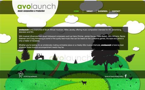 Screenshot of Home Page avolaunch.com - avolaunch - captured Dec. 28, 2015