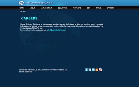 Screenshot of Jobs Page globalcriterion.com - Global Criterion Solutions   Careers - captured Jan. 29, 2016