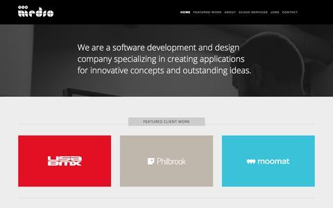 Screenshot of Home Page newmedio.com - New Medio - captured Sept. 21, 2018