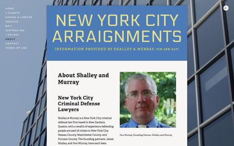 Screenshot of About Page new-york-arraignments.com - New York New York Criminal Court Arraignment Lawyers — New York City Arraignments - captured June 20, 2016
