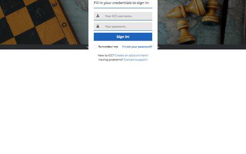 Screenshot of Login Page chessclub.com - ICC Sign in - captured Jan. 13, 2018
