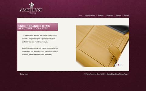 Screenshot of Home Page amethystlondon.com - Amethyst London   - captured Sept. 30, 2014