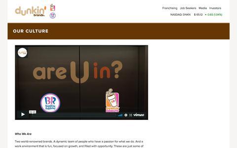 Careers | Dunkin' Brands