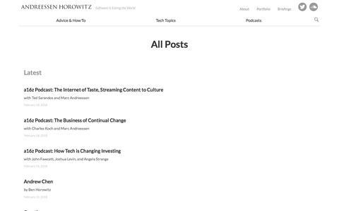 All Posts – Andreessen Horowitz