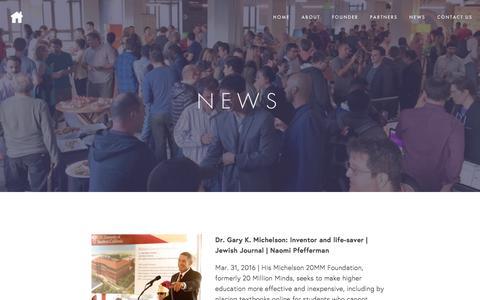 Screenshot of Press Page 20mm.org - Michelson 20MM News — Michelson 20MM - captured Nov. 30, 2016