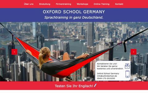 Screenshot of Home Page oxfordschool.de - OXFORD SCHOOL GERMANY | Über uns - captured Oct. 18, 2018