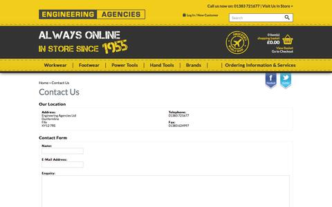 Screenshot of Contact Page engineeringagencies.co.uk - Contact Us - captured Oct. 3, 2014