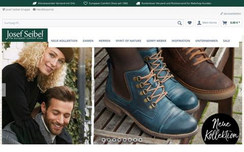 Screenshot of Home Page josefseibelshop.de - Josef Seibel Onlineshop - captured Nov. 24, 2018