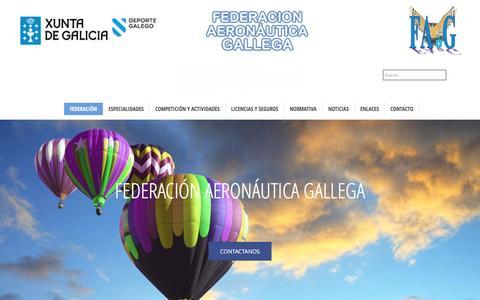 Screenshot of Home Page fegada.org - Federación Aeronáutica Gallega - Website oficial de la Federacion Aeronáutica Gallega - captured June 4, 2016