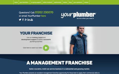 Screenshot of Testimonials Page yourplumberfranchise.com - Your Plumber   Make plumbing your business - captured Feb. 23, 2016