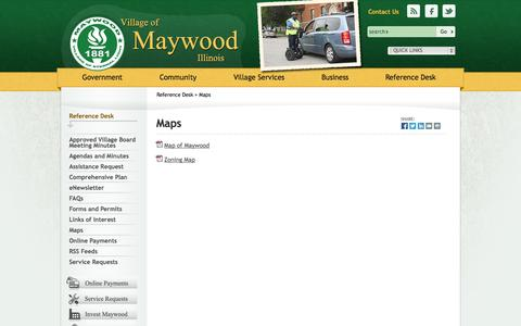 Screenshot of Maps & Directions Page maywood-il.org - Village of Maywood, Illinois - captured Oct. 27, 2014