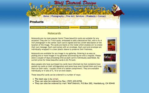 Screenshot of Products Page wolfdietrich.com - Wolf Dietrich Products - captured March 5, 2016