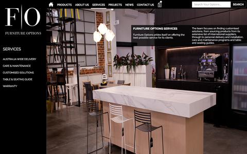 Screenshot of Services Page furnitureoptions.com.au - Commercial Furniture Services Perth | Furniture Options - captured Oct. 14, 2017
