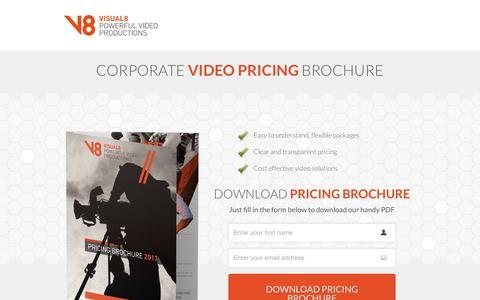 Screenshot of Pricing Page visual8.co.uk - Corporate Video Pricing Brochure   Birmingham & Midlands - captured Nov. 8, 2017