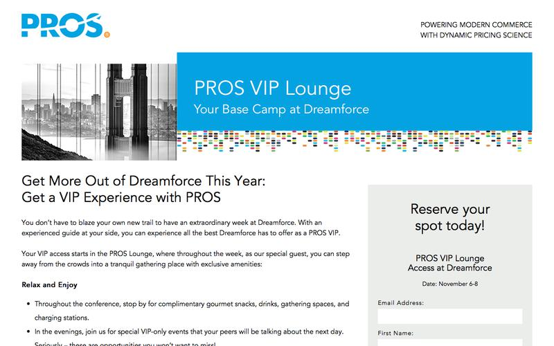 VIP Experience with PROS at Dreamforce 2017 | PROS