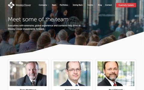 Screenshot of Team Page wesleyclover.com - Wesley Clover   Team - captured May 23, 2018