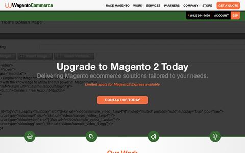 Screenshot of Home Page wagento.com - Custom Magento Programming Wagento Commerce - captured Jan. 15, 2016