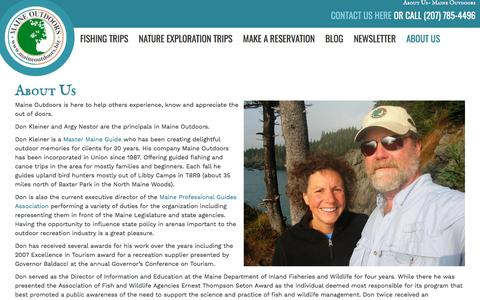 Screenshot of About Page maineoutdoors.biz - About Us | Maine Outdoors - captured May 26, 2017