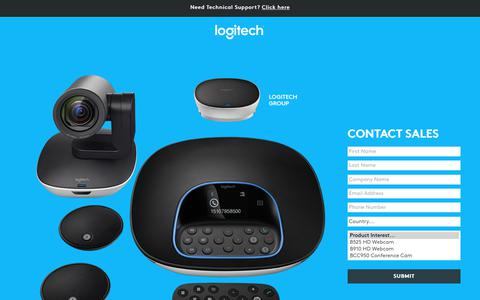 Screenshot of Landing Page logitech.com - Logitech | Contact Us - captured Oct. 25, 2017