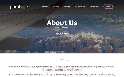Screenshot of About Page pointoneintl.com - About Us | Pointoneintl.com - captured Sept. 28, 2018