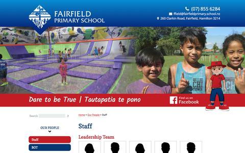 Screenshot of Team Page fairfieldprimary.school.nz - Staff - captured June 30, 2018