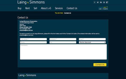 Screenshot of Contact Page lsre.com.au - Contact Us - captured Oct. 1, 2014