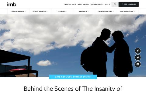 Screenshot of imb.org - Behind the Scenes of The Insanity of God: An Interview with Producer Craig Martin - International Mission Board - captured Sept. 27, 2016