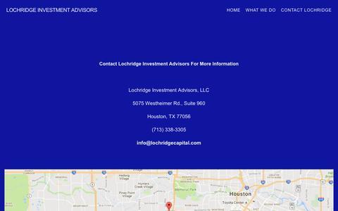 Screenshot of Contact Page lochridgecapital.com - Contact Lochridge — Lochridge Investment Advisors - captured Nov. 12, 2016