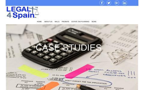 Screenshot of Case Studies Page legal4spain.com - CASE STUDIES - captured May 17, 2017