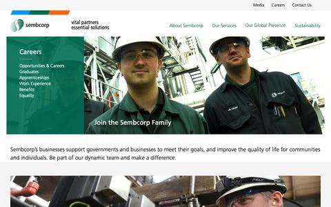 Screenshot of Jobs Page sembcorp.co.uk - Sembcorp -  Careers - captured Oct. 26, 2018